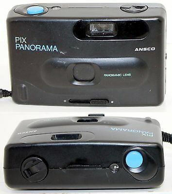 Vintage ANSCO Pix Panorama Compact 35mm Film Camera w/ Panoramic Lens