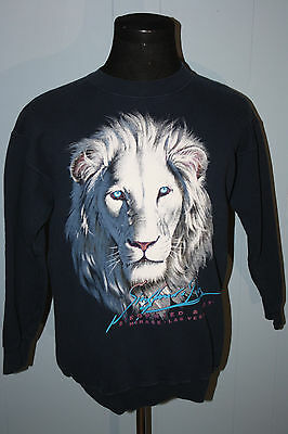 Siegfried and Roy White Lion Mirage Las Vegas Sweatshirt M