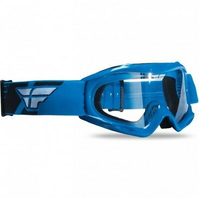 Fly Racing Youth NEW Mx Focus Blue Clear Lens Motocross Dirt Bike Kids Goggles