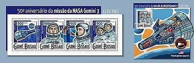 Z08 IMPERFORATED GB15318ab GUINEA-BISSAU 2015 NASA's mission Gemini 3 MNH Pos