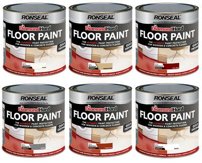 Ronseal Diamond Hard Floor Paint 2.5L For Wood Stone & Concrete Floors ALL Color