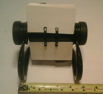 Vintage Rolodex Black Metal  Open Rotary File With Cards and Dividers Office