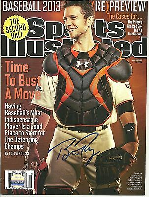 Buster Posey Ip Auto Signed 7/22/13 Sports Illustrated San Francisco Giants Lojo