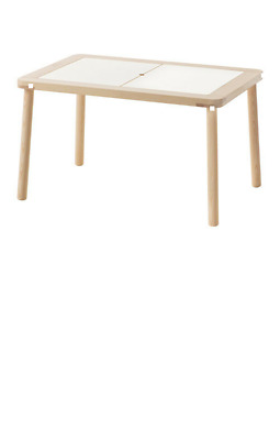 FLISAT Children's table 83x58 cm IKEA - Solid pine Tinted clear acryl Brand New