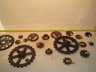 Vintage Antique Large Industrial Gears Sprockets Steampunk Lamps Decoration