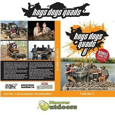 New Hogs, Dogs & Quads #6 Boar Caves Pig Hunting Hunting + Free Fishing DVD
