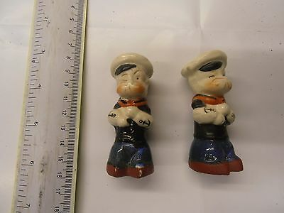 Popeye Vintage 1930S ? Salt And Pepper Pots .super Rare See Photos