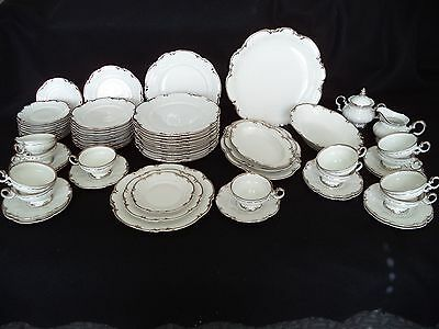 Hutchenreuther china Revere silver service for 12 place setting plates cups plus