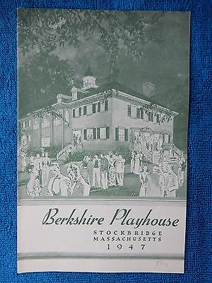 Years Ago - Berkshire Playhouse Theatre Playbill - August 11th, 1947