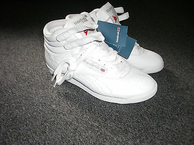 Reebok Classic White Leather Sneakers, WOMENS, Size US 6, UK 3 1/2, EU 36