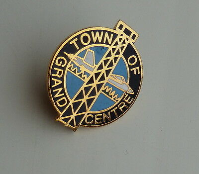 Town of Grand Centre Lapel Hat Pin