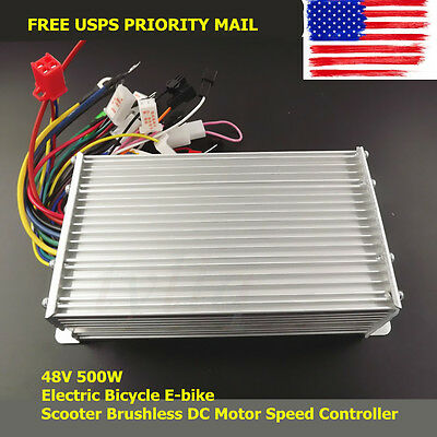 NEW 48V 500W Electric Bicycle E-bike Scooter Brushless DC Motor Speed Controller