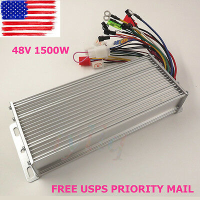 48V 1500W Electric Bicycle E-bike Scooter Brushless DC Motor Speed Controller US