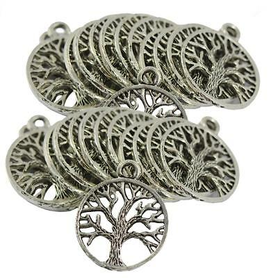 Wholesale Lots Antique Silver Tree of Life Charm Pendants For Jewelry Making