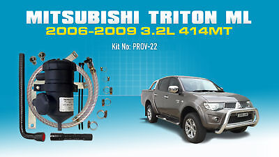 ProVent Catch Can Kit for Mitsubishi Triton (2006-09) ML 3.2L Common Rail 4M41T