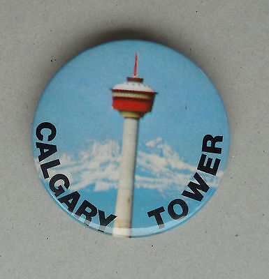 Vintage Calgary Tower Lapel  Button Calgary Tower Husky Tower Button