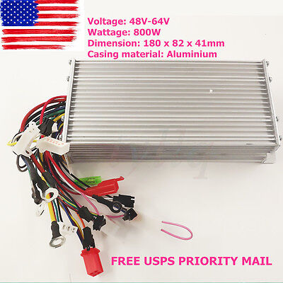 48V-64V 800W Electric Bicycle E-bike Scooter Brushless DC Motor Speed Controller