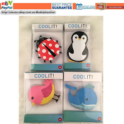 IS COOL it COOLIT KIDS ICE COLD HOT PACK INJURY REUSABLE- Animal