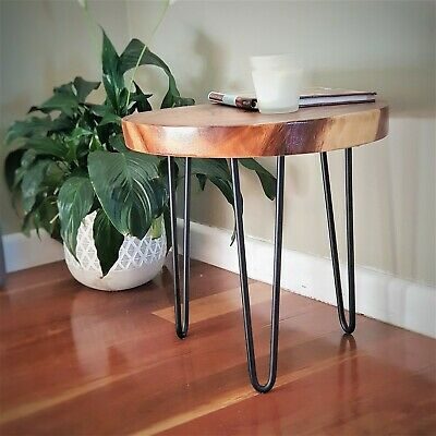 Wood Corner Table Solid Wood Side Table Indoor Outdoor