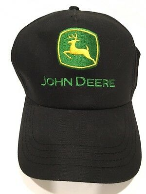 JOHN DEERE *BLACK MESH RETRO LOGO* Trademark Logo HAT CAP New