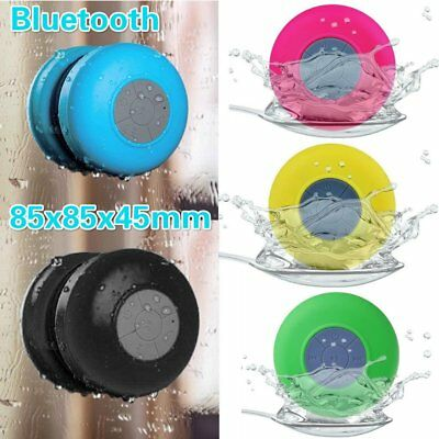 Waterproof Wireless Car Bluetooth Shower Music Speaker Handsfree MIC Suction ID