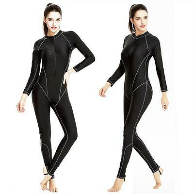 Womens Full Body Diving Skin Bodysuit UV Protection Lycra Wetsuit One Piece Swim