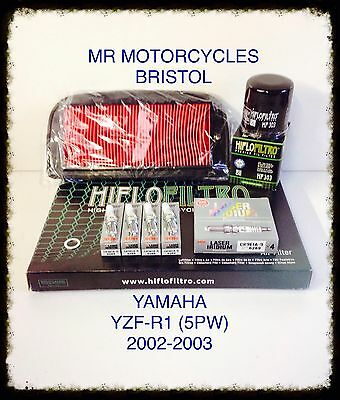 YAMAHA YZF-R1 5PW 02-03 Service Kit, Oil Filter, Air Filter, Plugs, SER2754