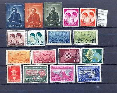 Stamps Lot Yugoslavia Mh*  (L15367A)