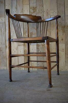 Vintage Antique Solid Wooden Edwardian Spindle Back Corner Chair- Restoration?