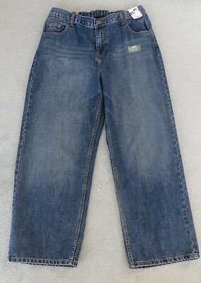 *BNWT* BHS Boy's Generous Fit Flipback Blue Jeans Straight 14 15 16 Plus Size