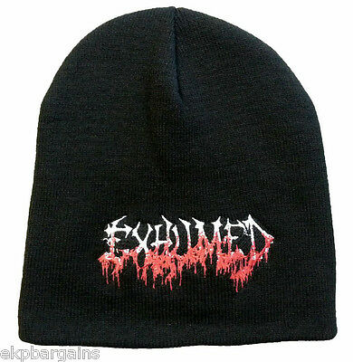 88ac5360615 Exhumed - Logo Beanie Winter Knit Hat Ski Cap Death Metal Music Band  Official