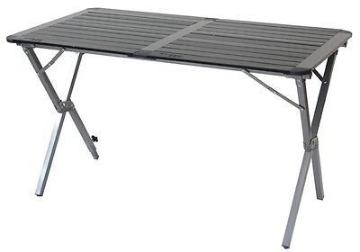 Aluminium double Roll Top Table With Carry Bag graphite and black - Yellowstone