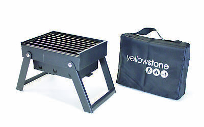 Mini Folding BBQ with Carry Bag Black Stainless - Yellowstone