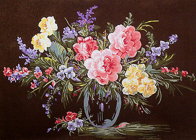 Needlepoint tapestry gobelin printed canvas  Roses
