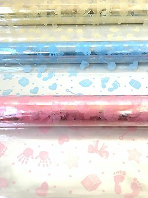 Baby Design Cellophane Wrap Various Lengths And Colour Perfect For Baby Hampers