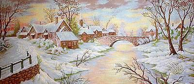 Needlepoint tapestry gobelin printed canvas  Winter