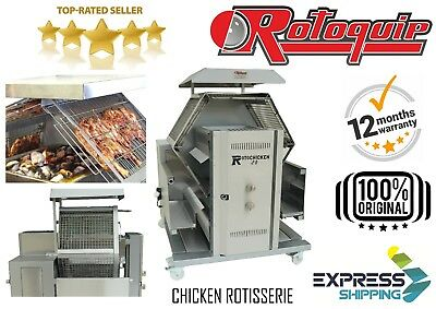 Automatic Charcoal Grill Chicken Rotisserie Peri Peri Grill Rotating Chargrill