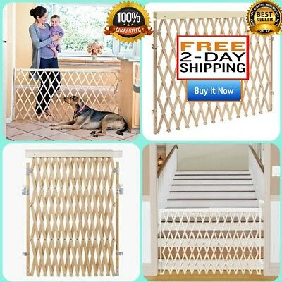"Evenflo Top of Stair PLUS Safety Wooden Gate Door Baby Pet Dog Fence 24"" to 60"""