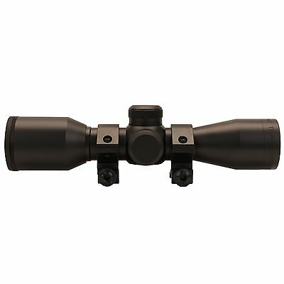 New! Truglo Cross Tec Compact Crossbow Scope 4x32mm with Rings Black TG8504A4