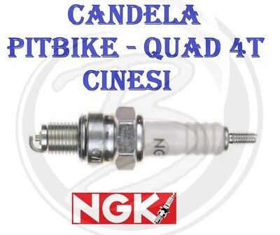Candela NGK PITBIKE QUAD 50 70 90 110 125  Motore 4 TEMPI Tipo Cinesi