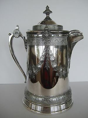 Superb Reed and Barton Victorian silver plate water pitcher orig removable liner