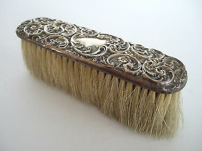 Small Sterling Silver Birks vintage art nouveau repousee man's brush