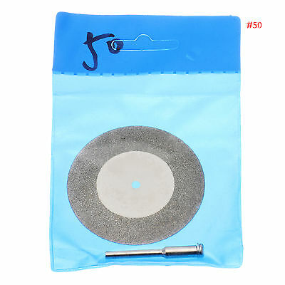Diamond Cutting Wheel Discs & Arbor Shaft Blades Size 50mm for Dremel Rotary #50