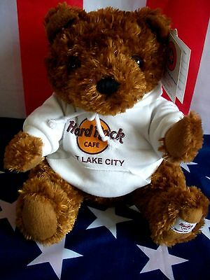 HRC Hard Rock Cafe Salt Lake City Sweater Hoodie Bear 2008 LE Made by Herrington