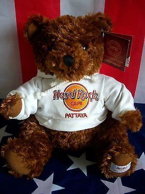 HRC Hard Rock Cafe Pattaya Sweater Hoodie Bear 2011 LE Made by Herrington