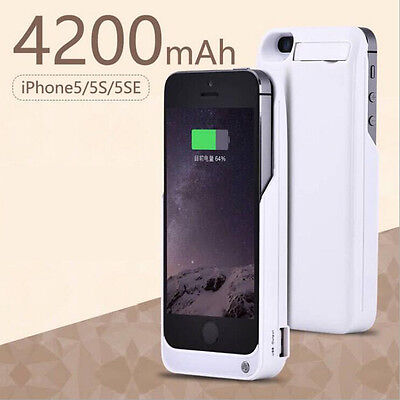 Portable External Battery Charger Case Cover Power Bank For Apple iPhone 5 5s SE