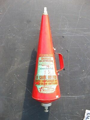 22108 Old Sign Vintage Fire Extinguisher Minimax Tin Can Fire Brigade Industrial