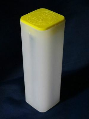 (4 Tubes) - Canada1 oz. Silver Maple Leaf (Empty) Coin Tubes - Yellow Top