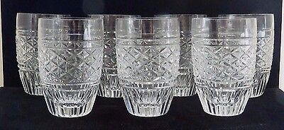 7 Vintage Waterford Cut Crystal Small Tumblers / High Ball Glasses / 7.