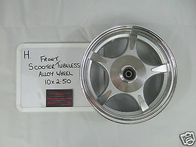 Moped/Scooter Front Alloy Wheel - 10 x 2.50 - Lifan Beat